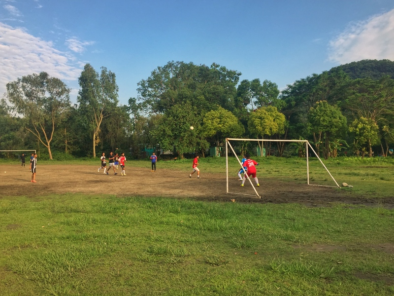 pokhara soccer at the park