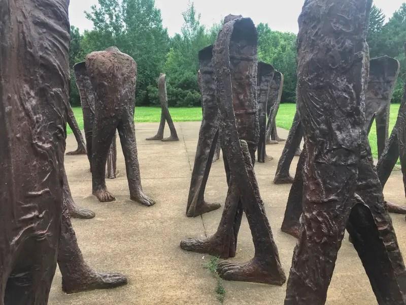 agora poznan feet sculpture