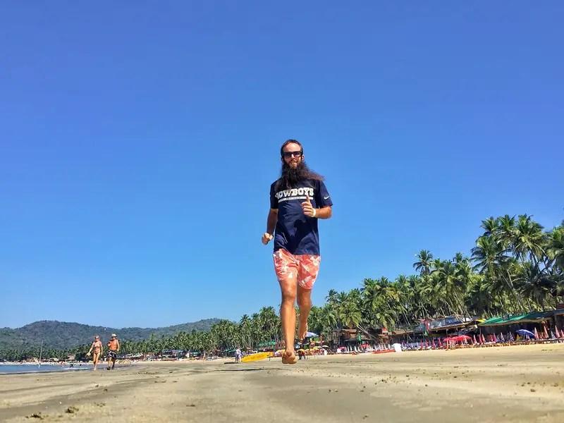 palolem beach running