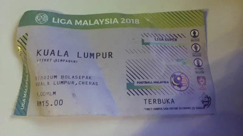 kuala lumpur fc ticket