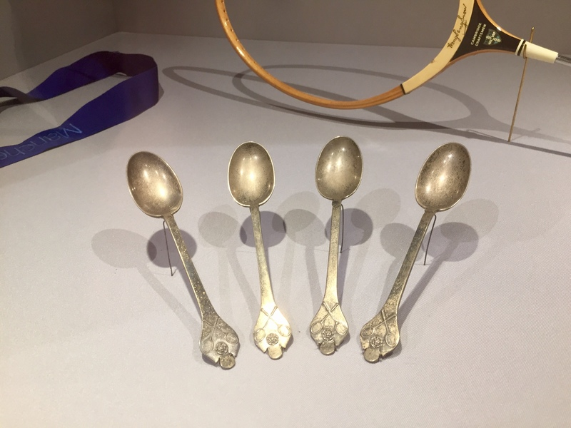 four spoons for winning england championship in badminton