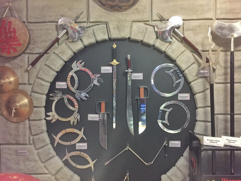 Various martial arts weapons