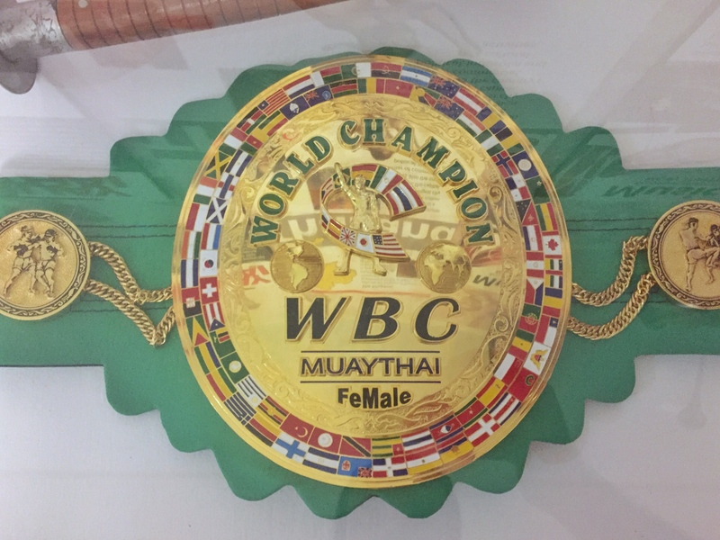 wbc martial arts belt
