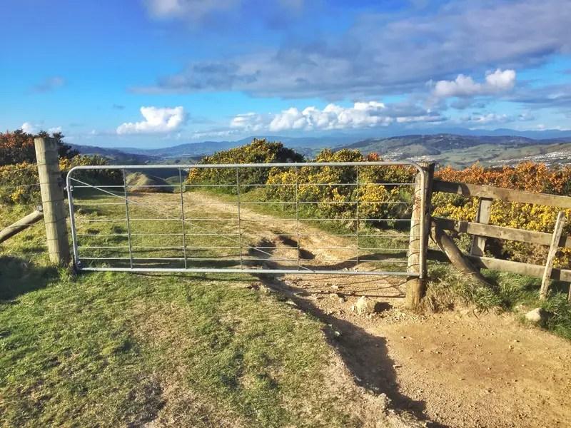 gate on trails