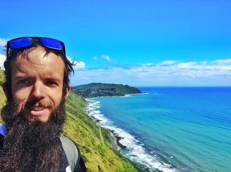 paekakariki escarpment selfie