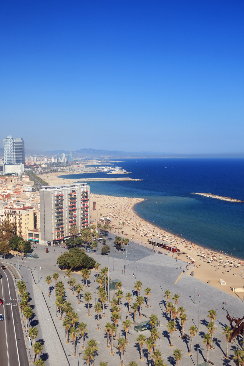 Barceloneta district and beach