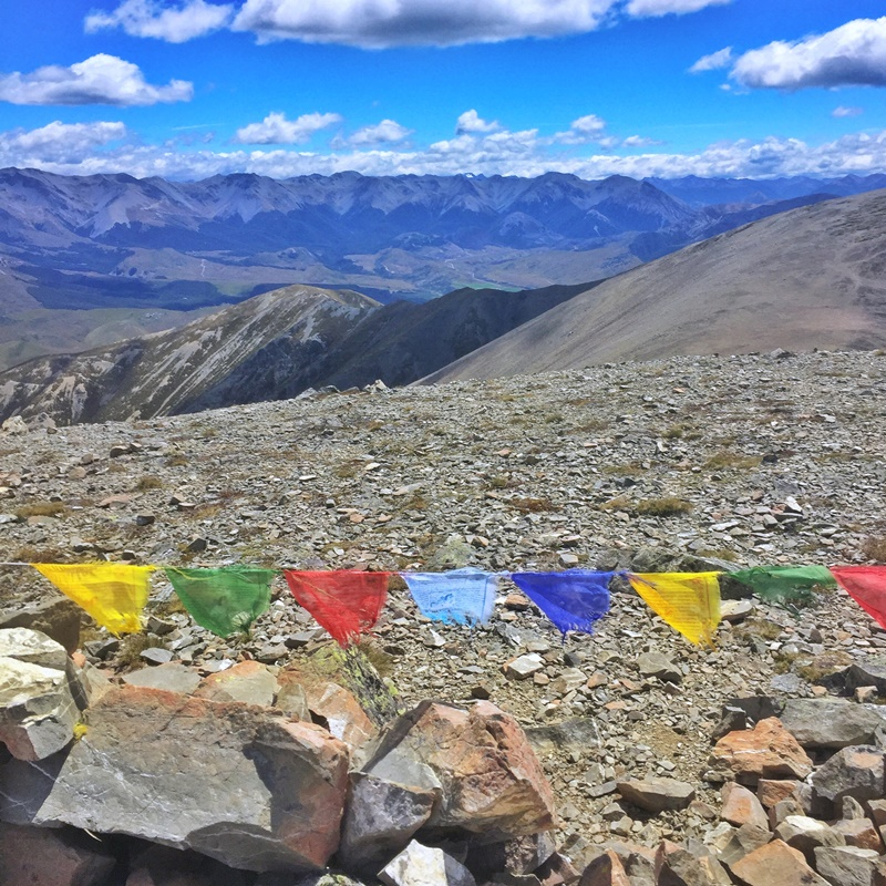 foggy peak summit