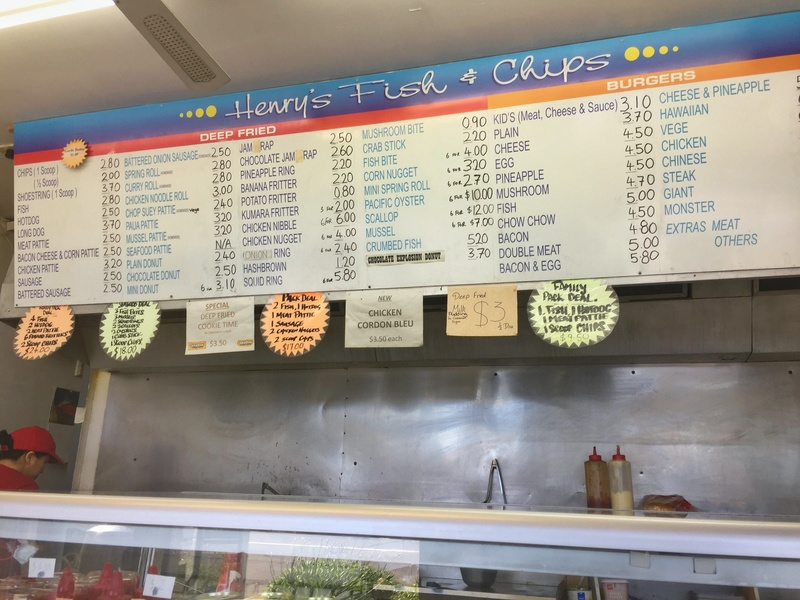 fish and chips menu new zealand