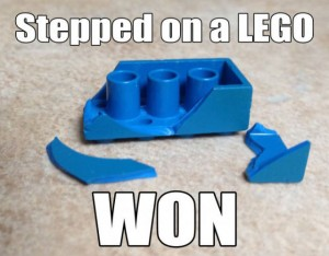 Stepped on a lego 300x234 Stepped on a lego