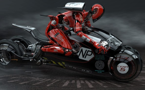 Ninja Robot on a Motorcycle 1024x640 Ninja Robot on a Motorcycle