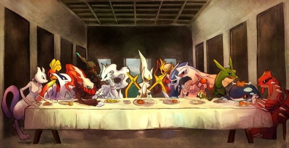 Pokemon last supper 1024x524 Pokemon last supper