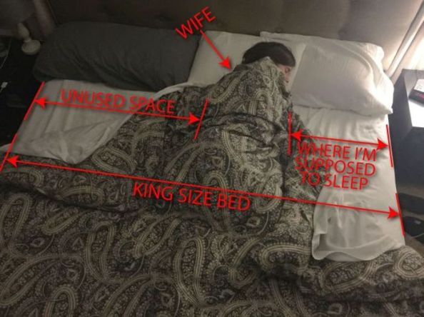 bed space vs wives bed space vs wives