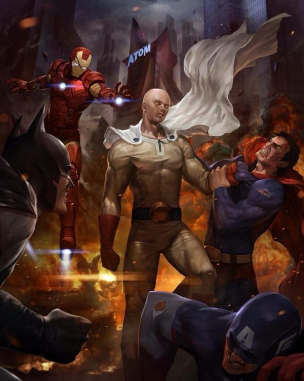 One Punch Man vs Marvel and DC 818x1024 One Punch Man vs Marvel and DC