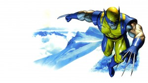 wolverine in the snow mountains