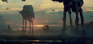 AT-ATs at sunset