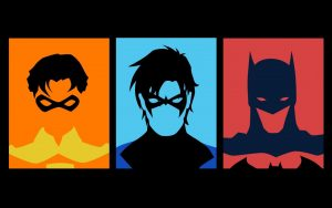 Robin Nightwing and Batman