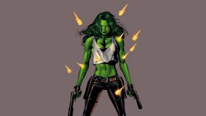 she hulk has guns