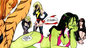 she-hulk with female avengers