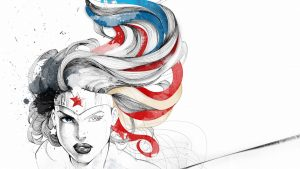 wonder woman getting colored in
