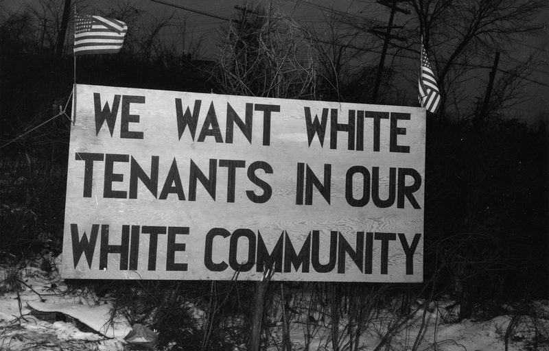 We Want White Tenants in Our White Community