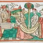 Image of Queen Esther before King Ahasureus