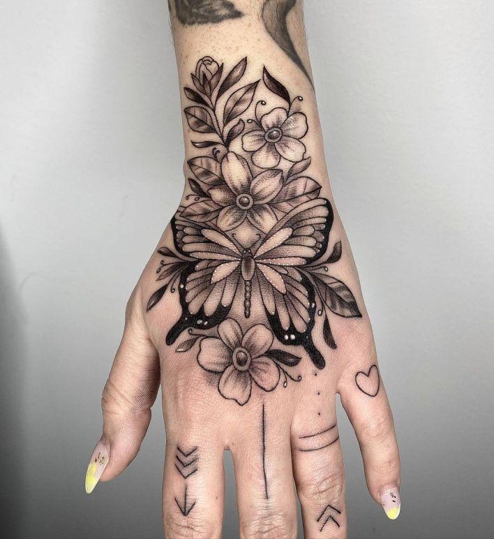 Butterfly Tattoo Hand