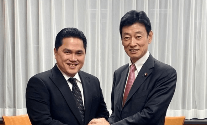 Erick Thohir Jajaki Kerja Sama Teknologi dan SDM Indonesia-Jepang