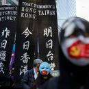 Warga Hongkong Demonstrasi Dukung Muslim Uighur