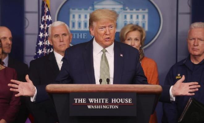 Abaikan Himbauan Social Distancing, Trump Klaim Amerika Segera Bebas dari Wabah Corona, Ahli Bilang Mustahil