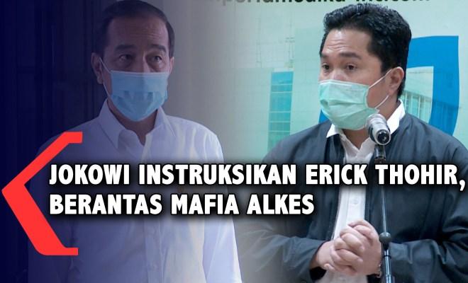 Hikmah Covid-19, Jokowi Perintahkan Erick Thohir Berantas Mafia Alkes