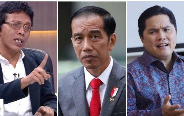Serangan ke Erick Thohir Makin Keras, Adian: Jokowi itu Presiden atau Pengantar Surat?