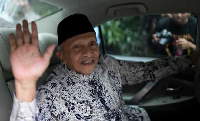 Soal Isu Anaknya Mau Jadi Menteri Jokowi, Amien Rais: Nauzubillahiminzalik!!