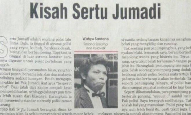 'Kisah Sertu Jumadi', Tulisan Dono Warkop yang Viral