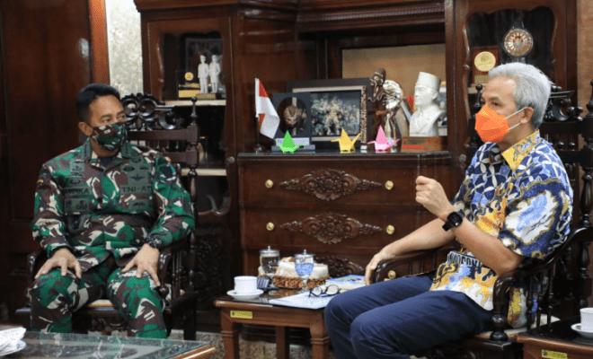 KSAD dan Pangdam 'Satroni' Rumah Ganjar Pranowo Malam-malam, Ada Hal Gawat Apa?