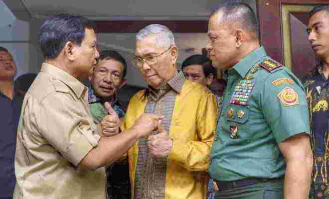 TIKTAK.ID - Viral di Medsos Prabowo Peringatkan Gatot Nurmantyo 'Jangan Bikin Kisruh Indonesia', Benarkah?