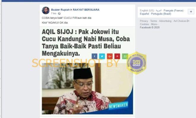 Said Aqil Bilang Jokowi Cucu Kandung Nabi Musa, Bagaimana Faktanya?