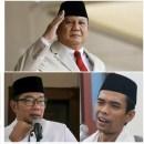 Survei Elektabilitas: Tertinggi Prabowo dan PDI Perjuangan, UAS Kalahkan Ridwan Kamil