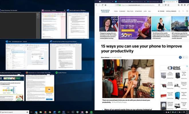Fitur Split Screen di Windows 10, Bisa Latih Kemampuan 'Multitasking'