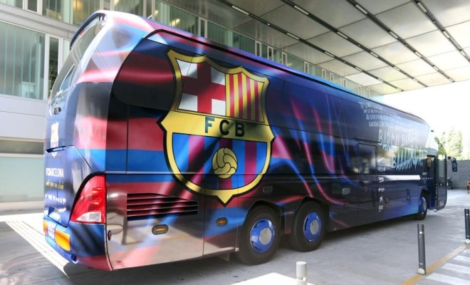 Krisis Finansial, Barcelona Lakoni Laga Tandang Naik Bus
