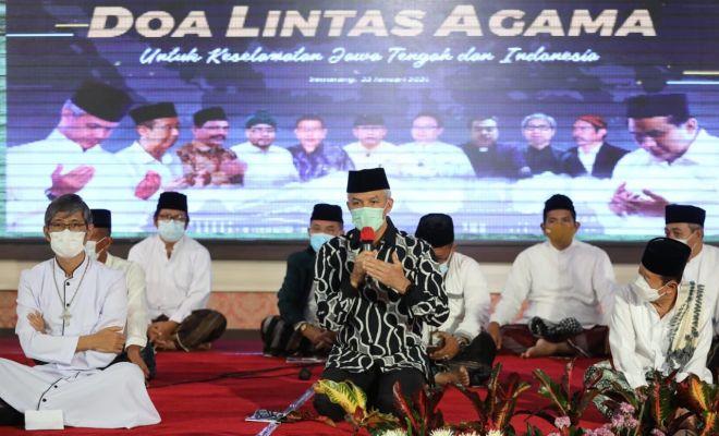 Ganjar Gelar Doa Lintas Agama, Berharap Indonesia Bebas dari Bencana