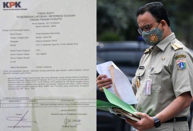 (Cek Hoaks atau Fakta) Temuan Bukti Surat Laporan Korupsi Anies Baswedan