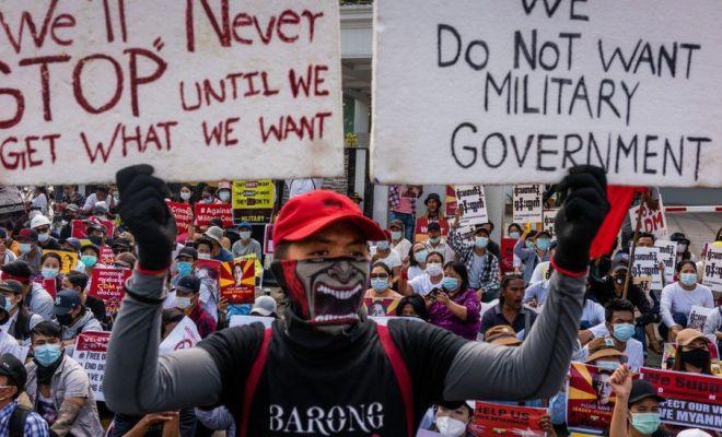 Militer Myanmar Ancam Pengunjuk Rasa Anti-Kudeta dengan Hukuman 20 Tahun Penjara