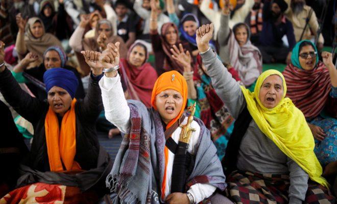 Petani India Lanjutkan Protes dengan Aksi Mogok Makan