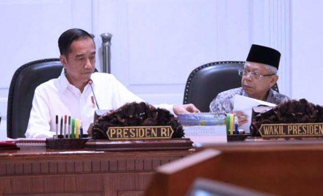 Jokowi dan Ma'ruf Amin Bahas Reshuffle Kabinet