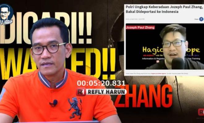 Refly Harun Bandingkan Kasus Hina Nabi Jozeph Paul Zhang dan Ahok