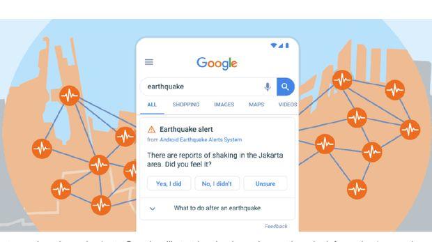 Google Perluas Cakupan Sistem Pendeteksi dan Peringatan Gempa
