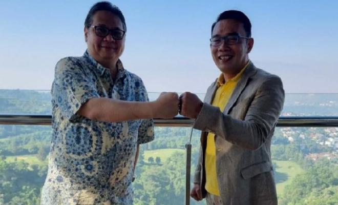 Jumpa Airlangga, Ridwan Kamil: Mudah-mudahan Tanda Kolaborasi!