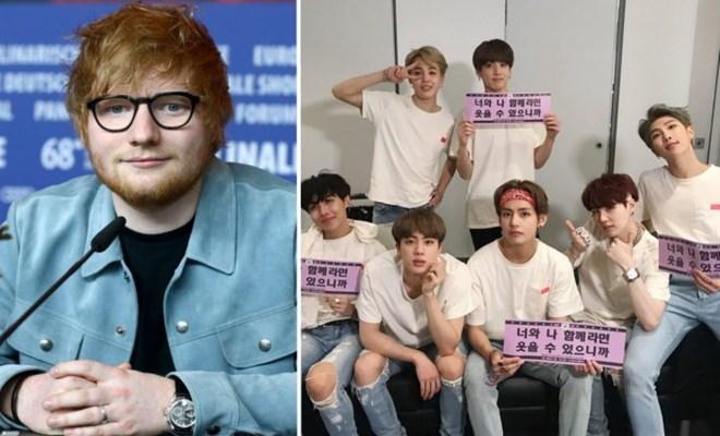 Ed Sheeran Tulis Lagu Baru untuk BTS