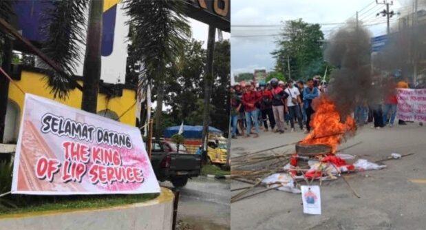 Tolak Kedatangan Presiden di Kendari, Sejumlah Mahasiswa Bentrok dengan Pendukung Jokowi