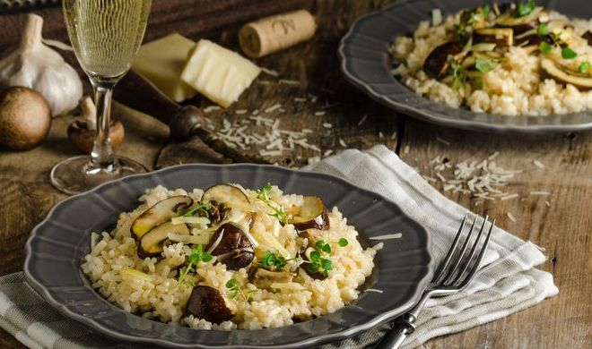 Resep Risotto Ayam dan Jamur Khas Italia